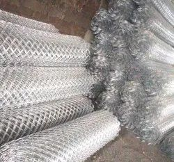 Diamond Shape Silver Wire Mesh, For Agricultural