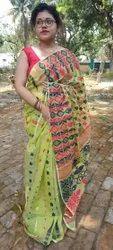 Festive Wear Semi Dhakai Jamdani Saree