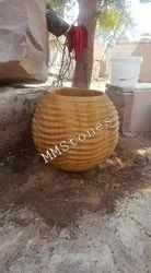 Stone Ball Flower Planter Pot