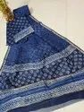 Printed Chanderi Silk Dress Material with Dupatta