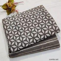 Mansi Printers Cotton Printed Running Fabric, Block Print