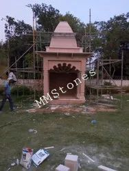 Stone Temple With Baramda 8 ft simple works