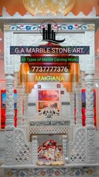 Square Carved White Marble Dargah