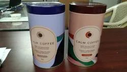 Printed coffee powder tin container