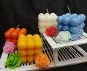 方形石蜡大泡泡蜡烛,为家庭装饰