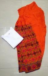 Cotton Phulkari Salwar Patiala Style Suits, For Casual Wear