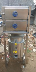 Manual Stainless Steel SS Idli Making Machine, Gad, Capacity: 60+60 Per Batch