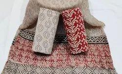 Bagru Print Cotton Dress Material with Dupatta