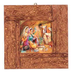 Water Based Paint Wooden Painting Photo Frame, For Interior