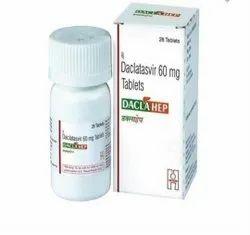 Declatasvir 60mg Decla Hep, Packaging Size: 28 Tab In 1 Bottle