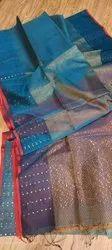 Tissue Reshom Silk Sequins Weaving Sarees