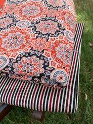 Cotton Ajrakh Fabric Top And Bottom Combos Set, Block Print