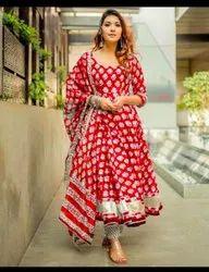 Anarkali Stitched Fancy Ladies Suit, Handwash
