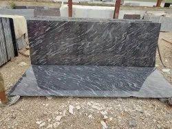 Rajasthan Black Markino Granite Slab, For Flooring,door Frames, Thickness: 15-20 Mm