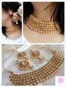 Golden Brass Fancy Jewellery Set