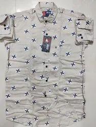 Maczone Cotton Twill Fabric Menswear Shirts Size S To Xl, Block Print, Multicolour