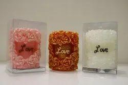 Love rose Pillar candle