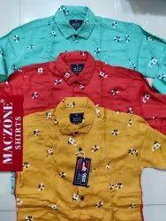 Printed Multicolor Maczone Shirts Menswear Size S To Xl