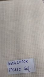 Kota Check Silk Fabric, White