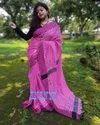 Khadi Cotton Check Jamdani Sarees