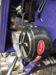 Raina Black Hard anodized aluminium pressure cooker