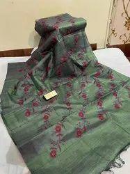 Tussar Ghicha Silk Weaving Work Sarees