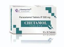 CHETAMOL 500 mg Paracetamol Tablet, For Headache, 10X10