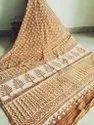 Bagru Indigo Dabu Print Cotton Mulmul Saree