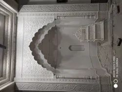 White Carved Marble Masjid Mehrab Marble Artifacts, For Decor, Size: 12 Ft Height 10 Ft Width