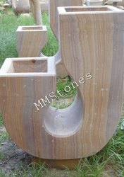 Abstract Art Stone Planter
