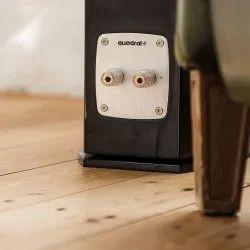 2.0 Black Quadral Chromium Style 8 Tower Speaker