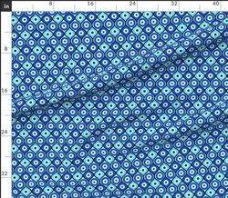 Polyester Evil Eye Fabric, Multicolour