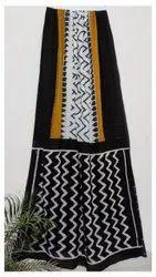 GIRRAJ PRINTERS Sanganeri prints New cotton saree, With Blouse, 6.3 m