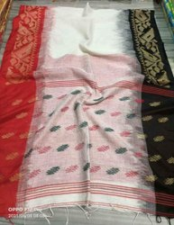 Linen Dhakai Ikkat Weaving Sarees