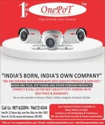 ONEPOT Day & Night Vision HD CAMERA, For Indoor Use, Model Name/Number: Oppremimum