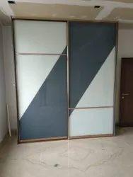 Designer Lacquered Glass wardrobe