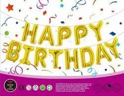 Foil Round Happy birthday foli, Packaging Type: Box, Size: 16 Inch