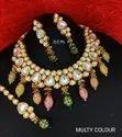 Wedding Wear Artificial Jewelry Kundan Necklace Set
