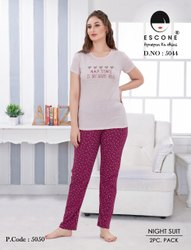 Cotton Women Night Suit, T-Shirt