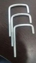 Polished Iron J Bolt, For Pipe Fittings, Size: 5 Inch