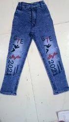 Blue Denim Kids biker Stretchable Jeans