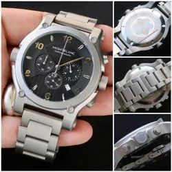 Round Analog Mont Blanc Watches, For Daily