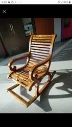 Red Wooden Rocking Chair, For Home