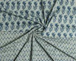 Printed Casual Pure Cotton Mal Dress Fabric, Block Print