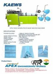 Used 3 ply surgical masks machine