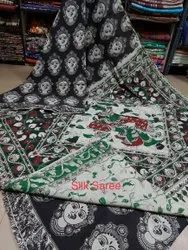 Handmade Kalamkari Silk Saree