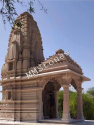Solid carved sandstone temple