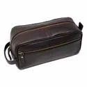 Leather Shaving Kit Bags And Toiletries Kit Bag Genuine Leather Bag Exporter