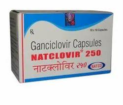 Ganciclovir NATCLOVIR 250MG CAPSULES, 10 Cap In 1 Strips(10*10)