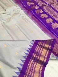 6.3 m (with blouse piece) Gadwal silk sarees
